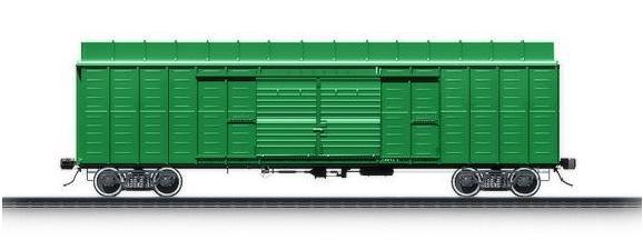 Крытый вагон с уширенными дверными проёмами, модель 11-217 (двухдверный)